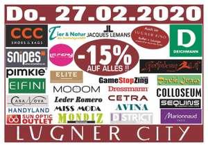 Lugner City -15% auf alles