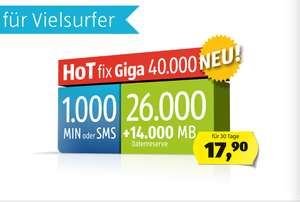 neuer Tarif HoT Giga mit 40 GB