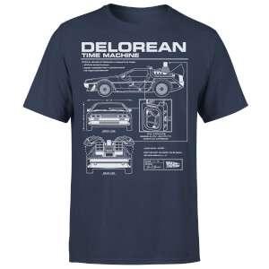 [KleidenwieTopper] Zurück In Die Zukunft Delorean Schematic T-Shirt und Tasse