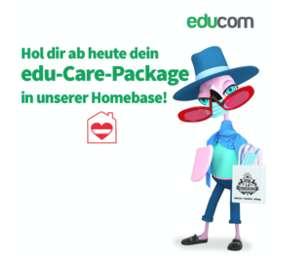 GRATIS EduBag mit zahlreichen Goodies, Klopapier und Atemschutz