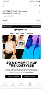 Reebok -30% Extra-Rabatt auf Sneaker