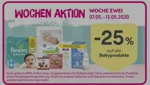 BIPA -25% auf alle Babyprodukte