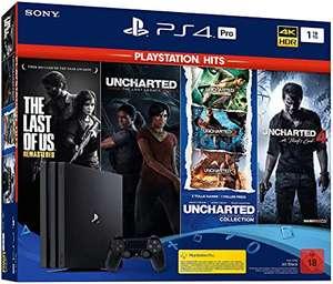 PlayStation 4 Pro - Konsole (1 TB, schwarz) PS Hits Naughty Dog Bundle
