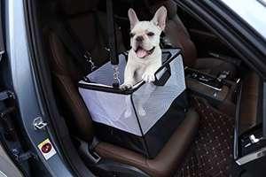 AmazonBasics Tragbare Transportbox für kleine Haustiere und Autositz