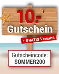 10€ Gutschein ab 49€ Einkauf und kostenloser Versand