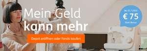 ING: Depot eröffnen, Fonds kaufen (mind. 1000€) und 75€ Start-Bonus erhalten