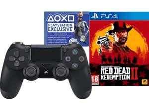 Sony Dualshock 4 Controller Jet Black: Fortnite Neo Versa Bundle + Red Dead Redemption 2