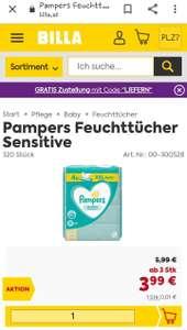 Pampers Feuchttücher Sensitive oder Fresh