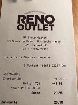Reno-Outlet im G3 - 70 % auf alle Schuhe