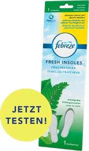 Febreze Frischesohle Gratismuster bestellen & testen