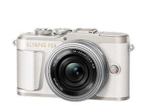 Olympus PEN E-PL9 blau mit Objektiv M.Zuiko digital 14-42mm EZ