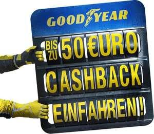 Good Year & Dunlop Cashback für PKW-Reifen - bis zu EUR 50,--!