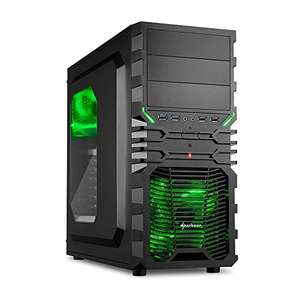 Sharkoon VG4-W Grün PC-Gehäuse mit Window Kit