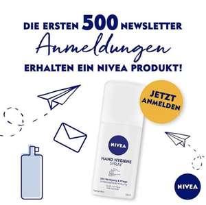 Gratis Hand Hygiene Spray für die ersten 500 Newsletter Anmeldungen