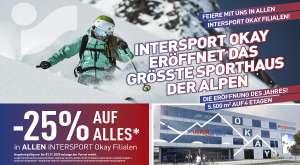 Intersport Okay -25% auf alles*