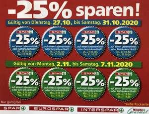 - 25 %-Sticker bei Spar