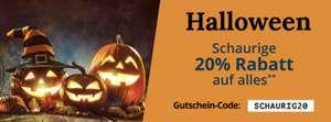 Halloween 20% auf alles