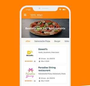5€ Neukunden-Gutschein für Lieferando.at via SMS anfordern