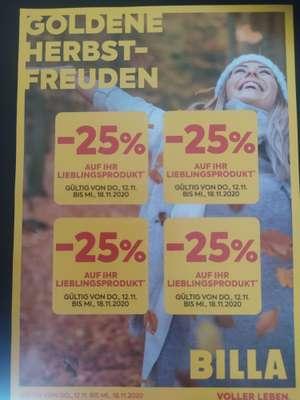 - 25% Sticker im Flugblatt   Billa   4 Stück