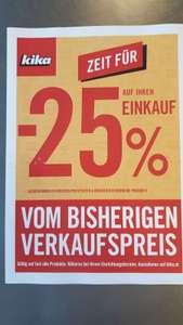 KIKA: minus 25 % vom bisherigen Verkaufspreis + 5 % oben drauf