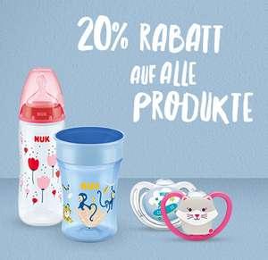 20 % Rabatt auf alle Produkte bei NUK