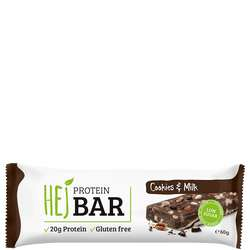 HEJ Protein Bar Cookies & Milk