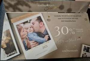 30% Rabatt auf Weihnachtskarten und Fotogeschenk bei Sendmoments.at