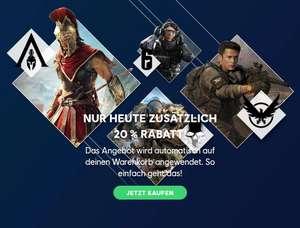 Ubisoft Store Cyber Monday 20% auf Einkaufskorb: Watch Dogs Legion (PC) um 35,99 Anno 1800 um 15,84 Southpark (PS4/XB1) 4,00 Switch Games ..