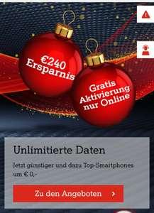 Gratis Aktivierung bei A1 und 10€ monatliche Ersparnis auf 5GigaMobil X-Mas Tarife