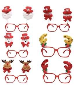 2x 6 Stück Toyvian Weihnachtsbrillen