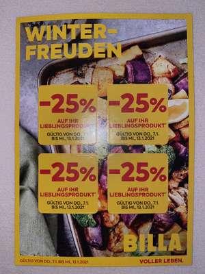 [ BILLA ] -25% Flugblatt Rabatt-Sticker