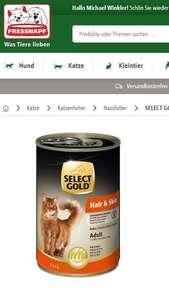 Fressnapf.at Multirabatt durch Paypack -15%, Newsletter 10% u. -15% Select Gold Produkte
