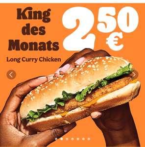 """Burger King """"King des Monats"""" Long Curry Chicken im März um nur 2,50 Euro"""