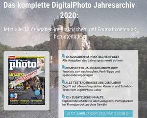 """Jahresarchiv 2020 (12 Ausgaben) von der Zeitschrift """"DigitalPhoto"""" kostenlos zum Download"""