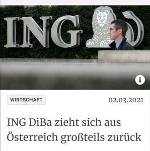 INFO ing zieht sich aus österreich zurück