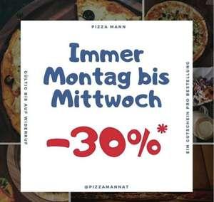 Mo bis Mi 30% bei Pizzamann