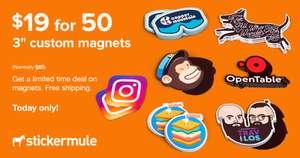 50Stk. Individuelle Magnete, 76x76mm