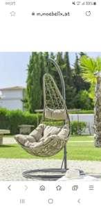 Hängesessel mit Gestell KIMI inkl. Kopf- und Sitzkissen beim Möbelix um 129€