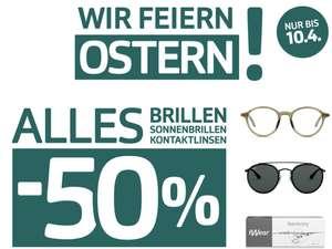50% auf ALLE Brillen bei Pearle