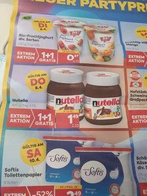 Billa & Billa Plus Nutella (400g) 1+1 Aktion 1,49€ nur am 08.04