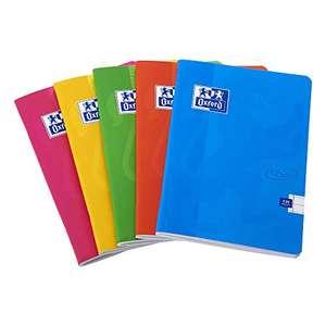 5x Oxford Touch Notizbücher A5, geheftet, 120 Seiten