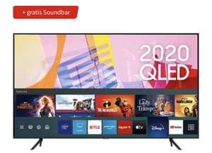SAMSUNG Q60T (2020) 85 Zoll 4K Smart TV QLED Fernseher + Samsung Soundbar S60T / S61T