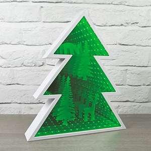 """Global Gizmos Spiegellicht mit Weihnachtsbaum, Motiv """"Infinity"""", Grün"""