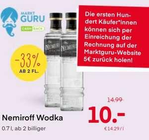 Für Jäger im Westen: Nemiroff Vodka mit Marktguru Billiger