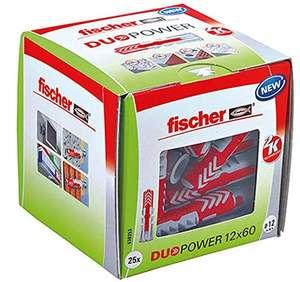 Fischer Duopower Dübel: 12 mm, Länge Dübel: 60 mm, 25 Stk