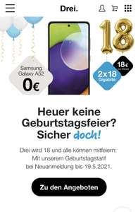 Drei 36GB um 18€ monatlich und gratis Handy