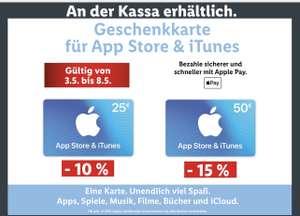 Apple App Store & iTunes-Geschenkkarten bis zu -15% bei Lidl