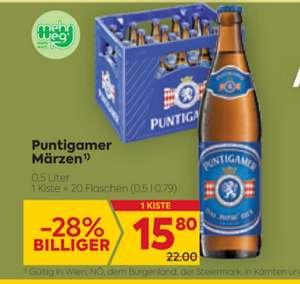 PUNTIGAMER KISTE mit -25% Sticker um € 11.85 beim Billa/Billa Plus