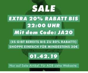 Asos: -20% extra Rabatt auf Sale
