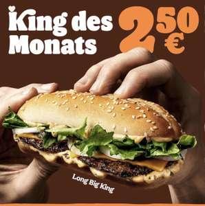 "Burger King: King des Monats Mai - ""Long Big King"" um € 2,50"